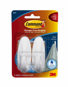 Command Medium Hooks with Water Resistant Strips