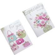 Set of 10 Lovely Cards Thank You Greeting Card Assortment,Flowers & Bags