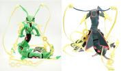 Pokemon Black & Green Mega Rayquaza Plush Toy 2pcs Set