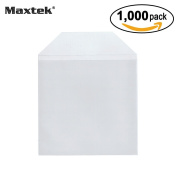 Maxtek 1,000 Pieces Clear Transparent CPP Plastic CD DVD Sleeves Envelope Holder, 100 micron thickness.