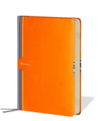 Semikolon Creativo Medium Organiser, Lined Paper, Perpetual Calendar, Orange