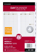 Day Runner PRO Weekly Planner Refill, 2015 for Day Runner PRO Planners, 14cm x 22cm Page Size