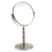 Anself 15cm 10x Magnification Round Shape Double Dual Side Rotating Makeup Cosmetic Vanity Desk Stand Mirror with Multicycle Base for Women Girls Lady