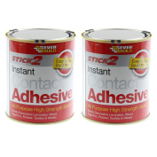 2 Piece 750Ml Stick 2 Instant All Purpose High Strength Bond Contact Adhesive
