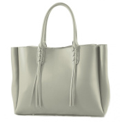 """CTM Satchel Bag Large Handbag Woman with handles, 41cm x 28cm x 5"""", Genuine leather 100% Made in Italy"""