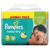 Pampers Baby Dry Size 3 (Midi) Jumbo Pack 90 Pack