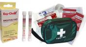 Vehicle First Aid Kit + EzyChek Breathalyser (2pk Breathalyser) : COMBO SAVER - Europe & France NF Standards