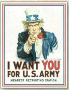 FRENCH VINTAGE METAL SIGN 40X30cm I WANT YOU FOR US ARMY USA ONCLE SAM