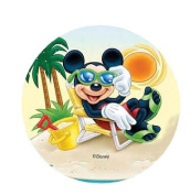 ~DISNEY MICKEY MOUSE CAKE TOPPER 14.5 CM EDIBLE WAFER / RICE VI. PAPER CUP CAKE DECORATION TOPPERS BIRTHDAY PARTY KIDS WEDDING