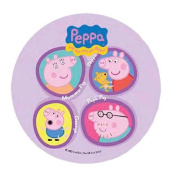 ~PEPPA PIG CAKE TOPPER 20.5 CM EDIBLE WAFER / RICE IV. PAPER CUP CAKE DECORATION TOPPERS BIRTHDAY PARTY KIDS WEDDING