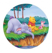 ~DISNEY WINNIE THE POOH CAKE TOPPER 20.5 CM EDIBLE WAFER / RICE VI. PAPER CUP CAKE DECORATION TOPPERS BIRTHDAY PARTY KIDS WEDDING