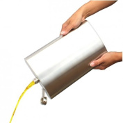 Giant hip flask holds 2 litres.