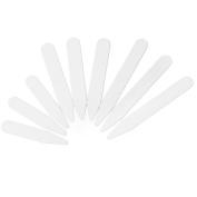 NUOLUX 200pcs Plastic White Collar Stays in 3 Sizes