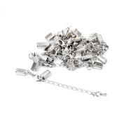 Necklace Bracelet Jewellery Extenders Chain Clasp and Clip Ends Set 12pcs Silver