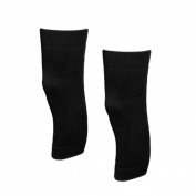 2 Pcs Black Stretchy Pullover Style Ladies Protective Knee Warmer