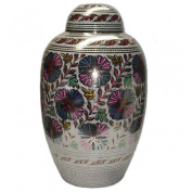 Large Dome Top Farnham Cremation Brass Urn, Adult Memorial Urn for Ashes
