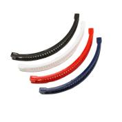 Set Of 4 Banana Hair Clip Long Banana Ponytail Comb Clip Red Navy white Black By Mytoptrendz