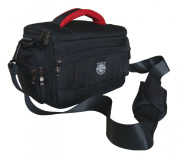 Black Jealiot Easy Access SLR Camera Case for Nikon D5100, D5200, D7000, Plus Two Additional Lenses and Accessories - Weather Cover Included