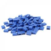 100 Pcs 2.54mm Pitch Circuit Board Shunts Short Jumper Cap Blue