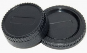 Maxsimafoto - Rear Lens cap & Body cap for Nikon Cameras & lenses as LF-1, BF-1A , D40, D60, D70, D80, D90, D3000, D3100, D5000, D7000, D300, D700, D2, D3 Etc..