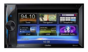 Clarion NX302E Double Din Multimedia Station with Built-In Navigation and 16cm High Resolution Display