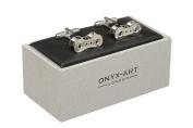 Bike Cycle Chain Cufflinks In Onyx Art Cufflink Box