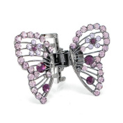 Glamorousky Butterfly Clamp in Purple. Element Crystals