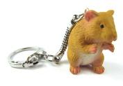 Gold Hamster Hamster Keyring Keychain Pendant Miniblings Rubber