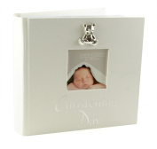 Christening Day Photo Album 15cm x 10cm Gift With 3D Teddy Icon