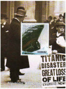 Titanic stamps - Stamp sheet celebrating the RMS Titanic - Mint and never mounted stamp sheet with 1 stamp
