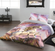 Wild Star AWESOME UNICORN Double/Twin Bed Duvet & Pillows Set Artwork by David Penfound