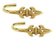 Polished Brass Curtain Tie Back Hook