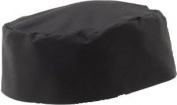 Black Poly Cotton Chefs/ Kitchen Cooking Skull Cap Hat, One Size