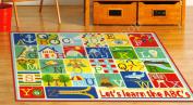 Smithsonian Teach Me Educational Kids Rug - Alphabet ABC