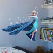 QUEEN ELSA Frozen Princess Decal Removable WALL STICKERS DIY 3d wallpaper