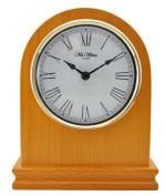 Modern Design Arch Shape Oak Finish Wood Mantel Clock