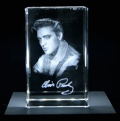 VIP-LASER Elvis Presley 3D-Autogram XL glass crystal