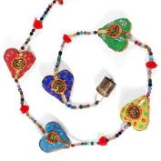 Fabric Heart Dangley Fair Trade Colourful Tota Hand Made Mobile