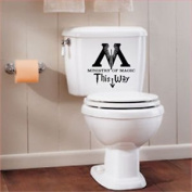 MINISTRY OF MAGIC DECAL 25 cm black X 1 TOILET BATHROOM STICKER DECAL