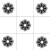 Vinylworld Flowers kitchen / bathroom wall tile decal stickers x12