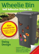 Wheelie Bin Self Adhesive Sticker Kit, Daisies Design