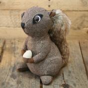 Squirrel Fabric Doorstop ~ Beautiful Brown Squirrel Door Stop