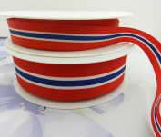 Always Knitting And Sewing 2 Metres Norwegian Flag Ribbon Red Blue White Norway, 15mm