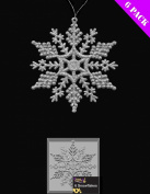 Pack Of 6 Silver Glittery Hanging Snowflakes Christmas Decorations