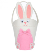 25cm Kids Cute White & Pink Bunny Rabbit Easter Decoration Chocolate Egg Hunt New