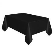 Black Plastic Rectangle Tablecover 137cm x 274cm Tablecloth Cloth Covers Wipe Clean Party Hollywood Casino Theme