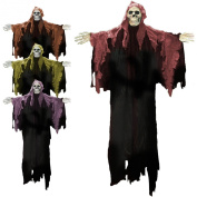 120cm Halloween Hooded Gothic Ghost Skeleton Hanging Party Decoration