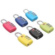 leading-star Luggage Suitcase Security Lock 3 Digit Combination Padlock