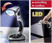 Cordless 12 LED Portable Lamp - Desk, Work, Home, Office, Reading Computer, Bedside Table, Camping, Flexible Wireless Bright Light Battery Powered Torch