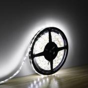 LE Lampux 12V Flexible LED Strip Lights, LED Tape, Daylight White, Waterproof, 300 Units 3528 LEDs, Light Strips, Pack of 5M